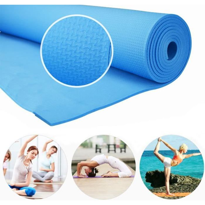iDeko® Tapis de Yoga antiderapant EVA epais 6mm avec sac portable Yoga d'exercice Tapis de Sol