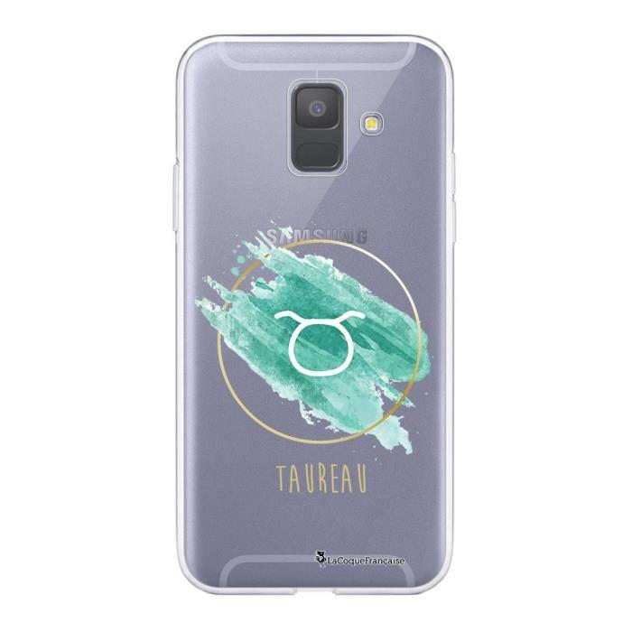 Coque Samsung Galaxy A6 2018 360 intégrale transparente Taureau Ecriture Tendance Design La Coque Francaise