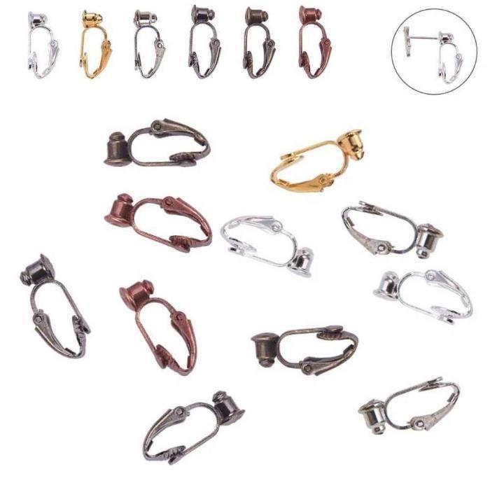 Adaptateurs De Boucles D'oreilles Clips - Lot de 6 - Multicolore