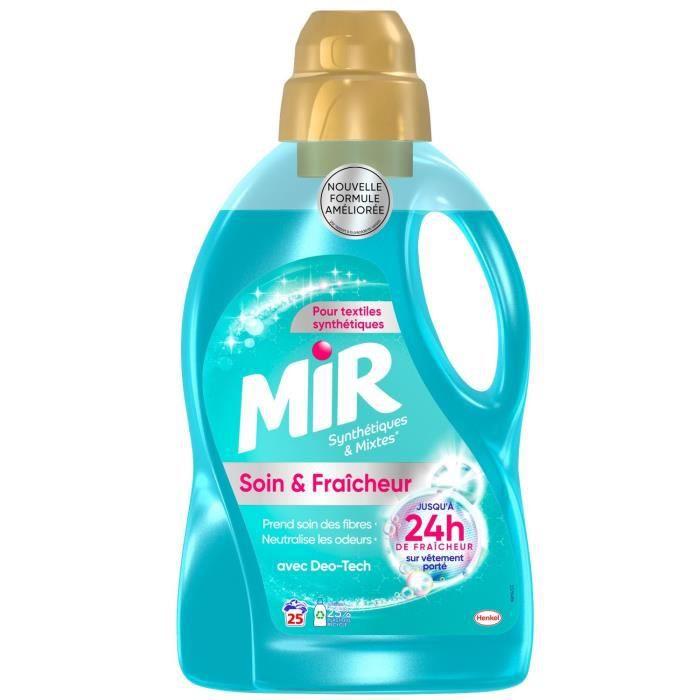LOT DE 10 - MIR Soin & Fraîcheur Synthétiques et Mixtes 25 lavages - bidon de 1,5 l