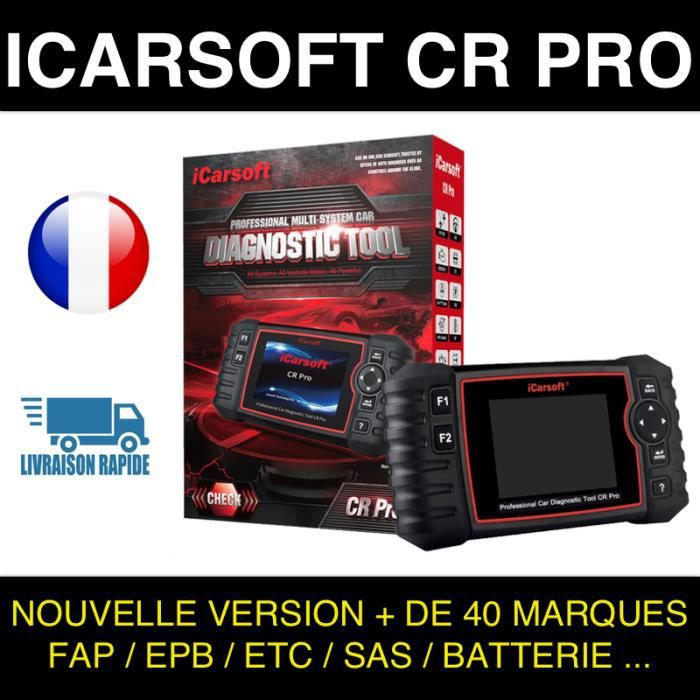 ✅ VALISE DIAGNOSTIC AUTO MULTIMARQUE OBD2 100% FRANCAIS ICARSOFT CR PRO