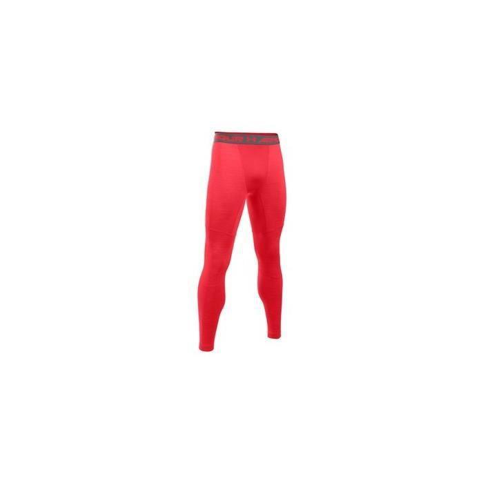 Collant de compression Under armour Coldgear Twist Legging rouge pour homme