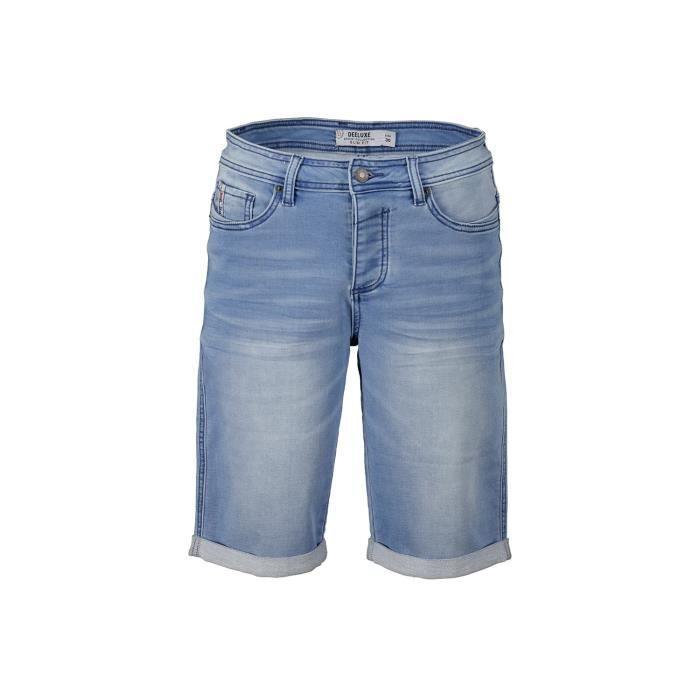 DEELUXE Short slim en jean délavé BART Bleach Used