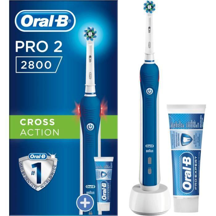 Brosse à dents électrique Oral-B PRO 2800 CROSS ACTION BLEU + 1 DENT PRO