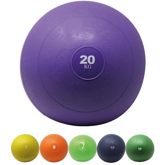 Slamball I Medicine Ball 3 - 20 kg I Slam Ball différentes couleurs Poids: 20 kg