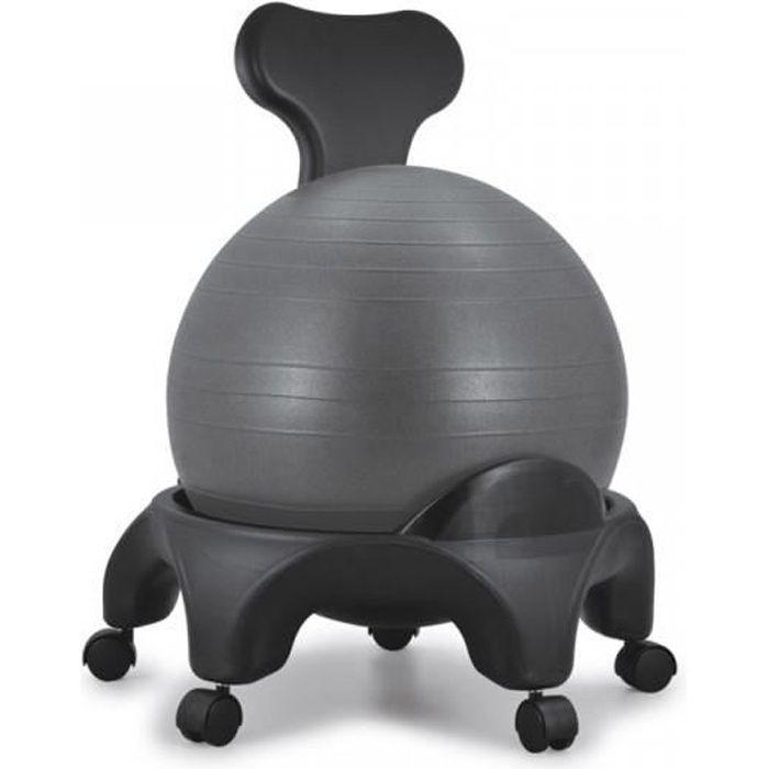 Tonic Chair Originale Noir Chaise avec Ballon Equilibre Exercice Fitness Dos Abdominaux