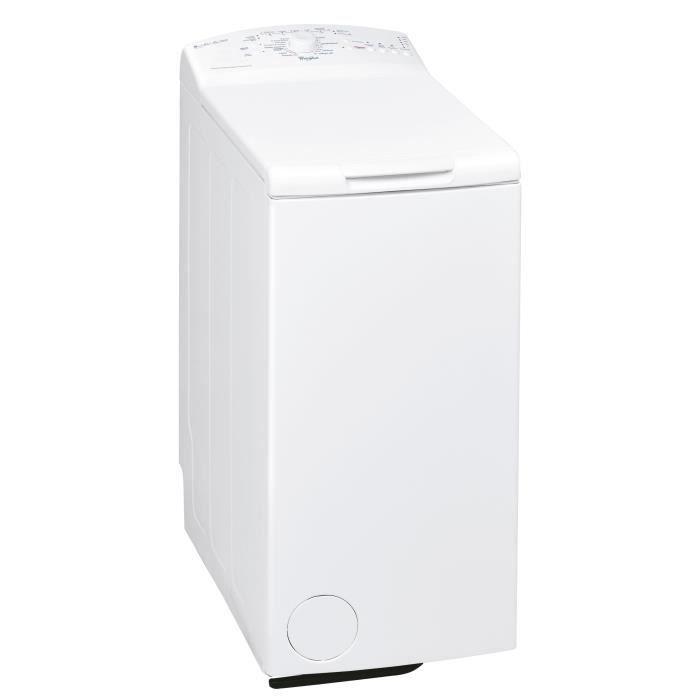 Lave-linge top WHIRLPOOL AWE6560 - 6 kg - Classe A+ - 1000 tours/min - Blanc