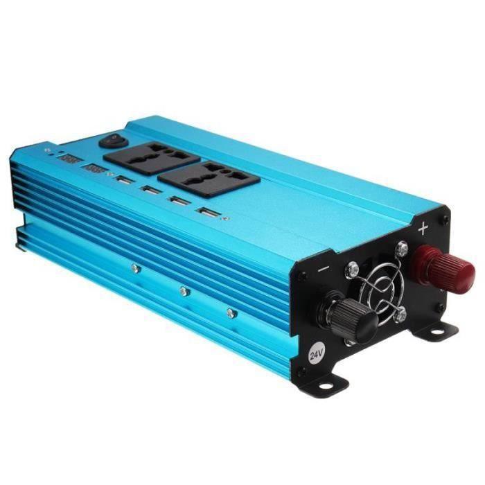 BTH22492-NEüFU Convertisseur Solaire 4000W Adaptateur Durable pour Voiture 24V-220V