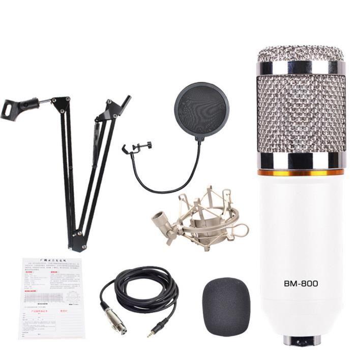HAUT-PARLEUR - MICRO 3 en 1 Vogue BM800 Microphone à condensateur Pro A