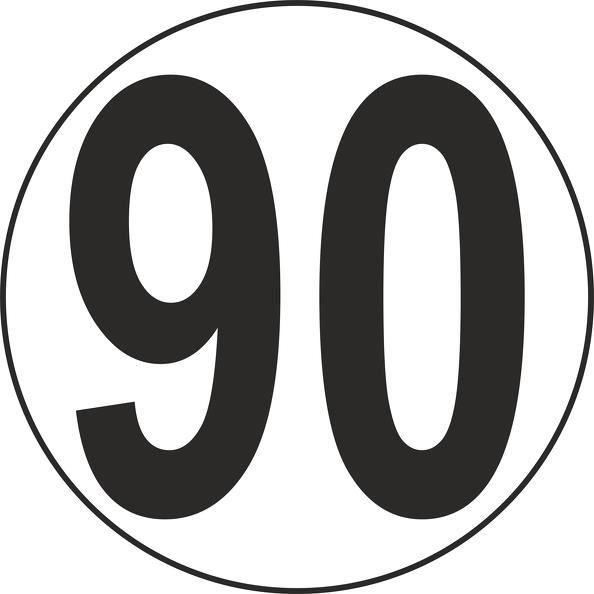 Autocollants Autocollant Disques de limitation de vitesse 110 rouge