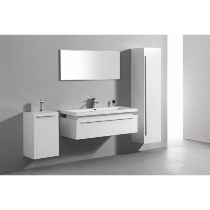 ensemble complet meuble de salle de bain rio 1 vasque 1 miroir blanc achat vente salle de. Black Bedroom Furniture Sets. Home Design Ideas