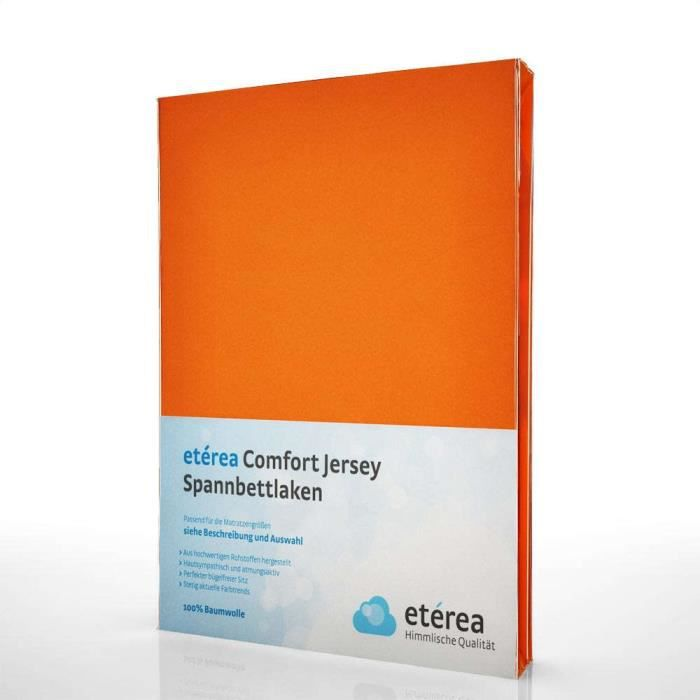 Lucena Cantos Drap Housse Coordina Orange, 80 x 200 Couleurs Unies,