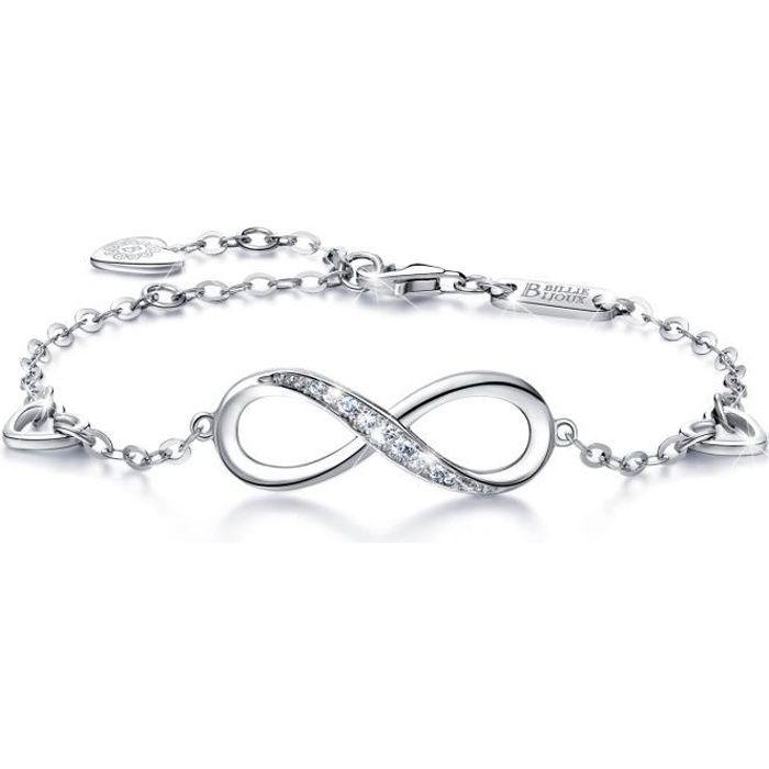 bracelet argent fin femme