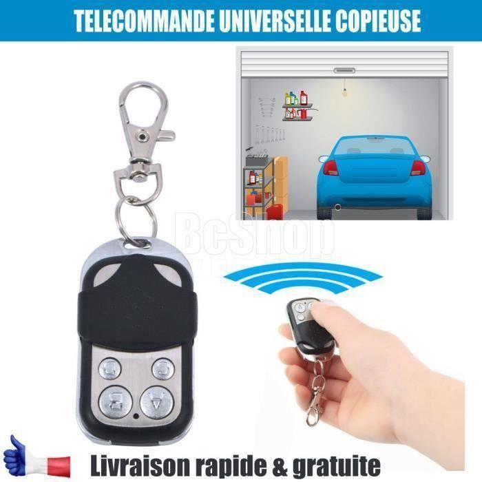 Télécommande Universelle 433 MHz Portail Garage Code 433mhz 4 Boutons Copieuse .