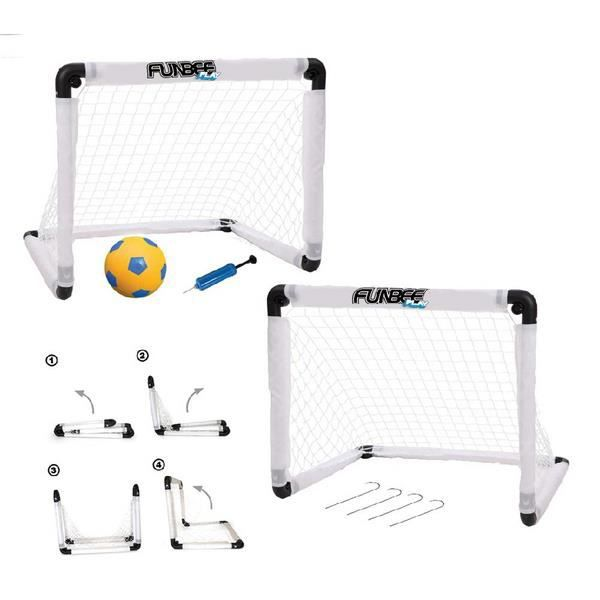 funbee set double cage de foot pliables acc prix pas cher cdiscount. Black Bedroom Furniture Sets. Home Design Ideas