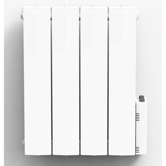 Heatzy 1000 Watts Radiateur électrique à Inertie Fluide Caloporteur Programmable Thermostat Connecté Bluetooth Blanc