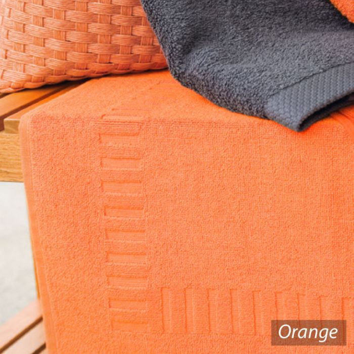 tapis de bain pure orange ponge 50x70cm achat vente tapis de bain cdiscount. Black Bedroom Furniture Sets. Home Design Ideas