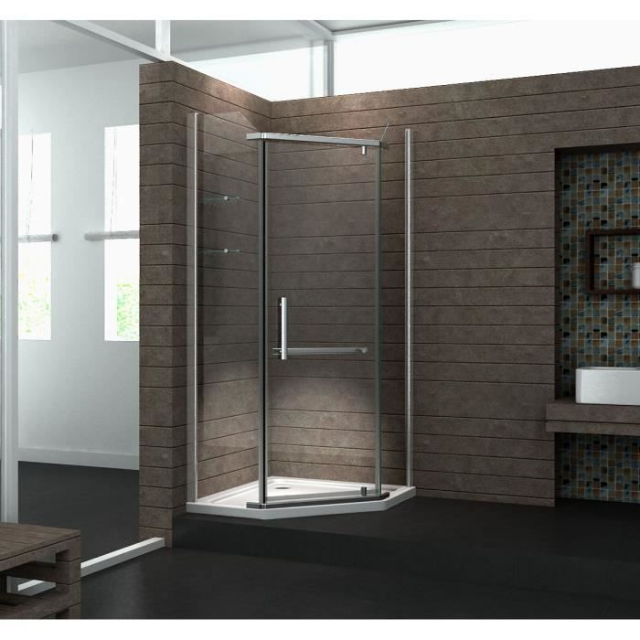 douche d 39 angle pentago achat vente porte de douche. Black Bedroom Furniture Sets. Home Design Ideas