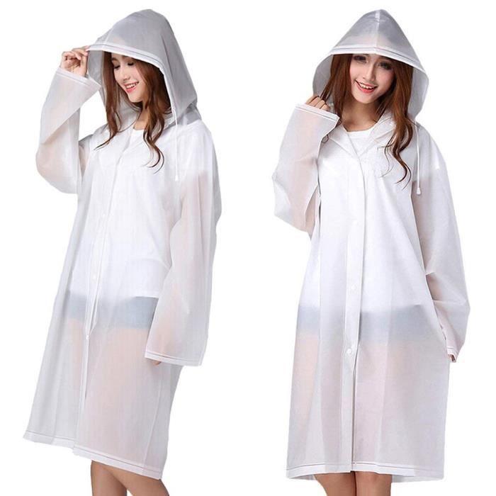 V/êtement de pluie moto Transparent de pluie poncho pluie Veste Manteau de pluie /étanche EVA V/élo Rain Coat Cape de pluie pour hommes /& femmes