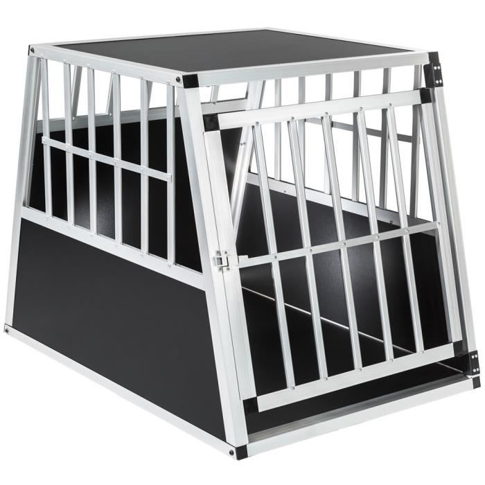 cage caisse box de transport pour chien en aluminium 66 cm x 90 cm x 69 50 cm tectake achat. Black Bedroom Furniture Sets. Home Design Ideas
