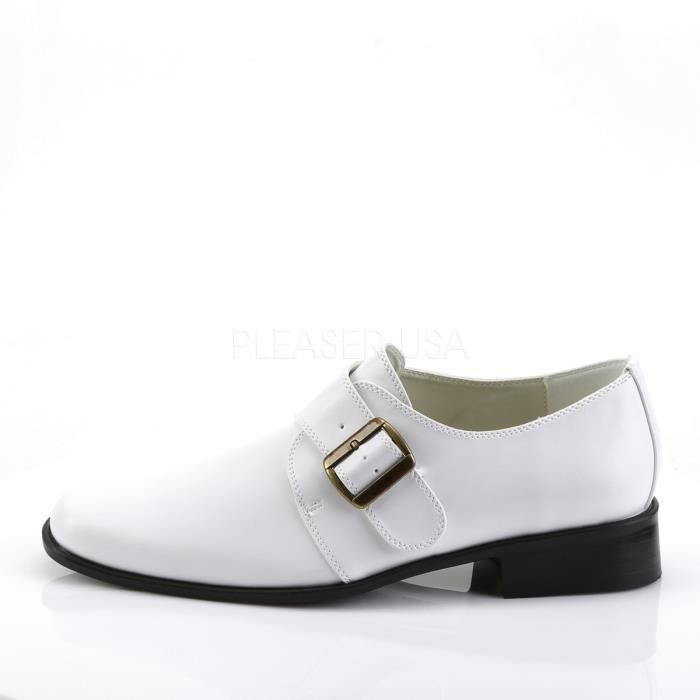 Funtasma LOAFER-12 1 Inch Flat Heel Monk Strap Slip-on Men's Loafer.