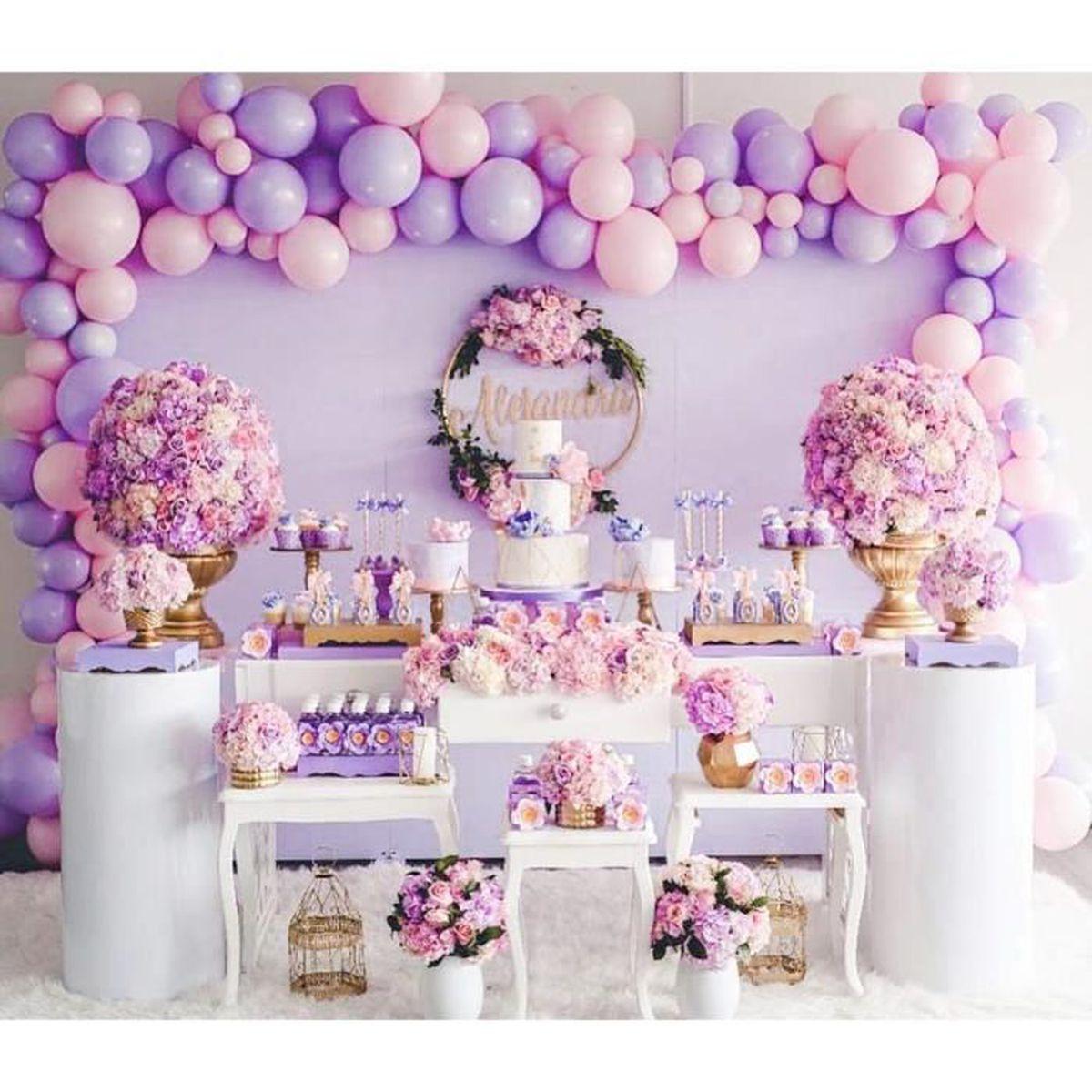 rose 100 x 10 Ballons En Latex Marriage Fournitures De F/ête Danniversaire D/écoration par Wedding Decor