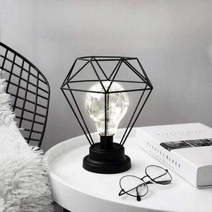 ACCESSOIRE LAMPE UV Lampe de Chevet,Diamond Shape Rétro Lampe de Table