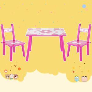 TABLE ET CHAISE 3pcs Table et chaise pour enfant étudiant peinture