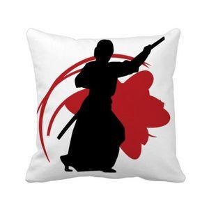 OREILLER japon asie samouraï katana sakura parry silhouette