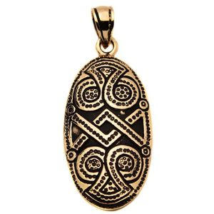 PENDENTIF VENDU SEUL pendentif bronze bouclier viking protection game o
