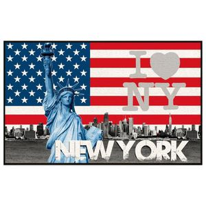 deco new york tapis achat vente deco new york tapis pas cher cdiscount. Black Bedroom Furniture Sets. Home Design Ideas