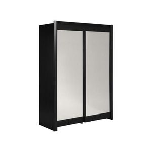 armoire noire porte coulissante achat vente armoire. Black Bedroom Furniture Sets. Home Design Ideas