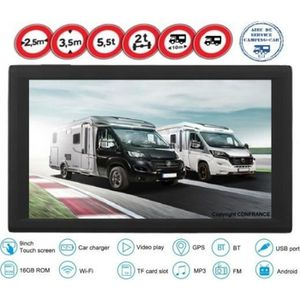 PACK GPS AUTO GPS CAMPING CAR / CARAVAN 9 POUCES ANDROID 2019