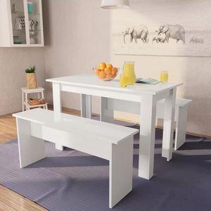 TABLE À MANGER COMPLÈTE Ensemble table à manger 2 personnes + 2 chaises -