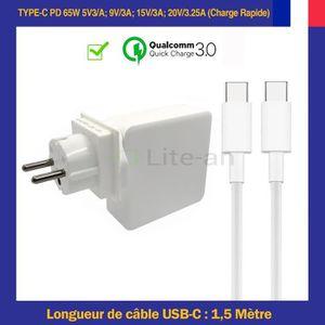 CHARGEUR - ADAPTATEUR  Chargeur USB-C PD 65W Pour Microsoft Surface Book