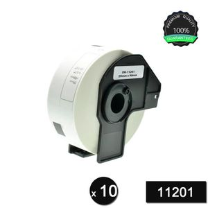 1 Rolls Brother-Compatible DK-11201 29mm x 90mm Die-Cut Standard Address Labels With Refillable Cartridge