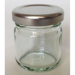 Nutleys Lot de 12 Pots /à Confiture Forme hexagonale avec Couvercle /à Visser Transparent//dor/é 55 ML