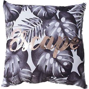 Neuf Noir /& Blanc Taie d/'oreiller Court Peluche jeter canapé Home Decor Cushion cover