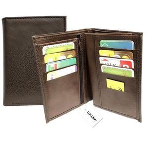 Porte Carte id/éal pour Poches -12,5 x 9,5 x 2 cm Porte Monnaie Marron SECRETDRESSING/® Portefeuille Cuir