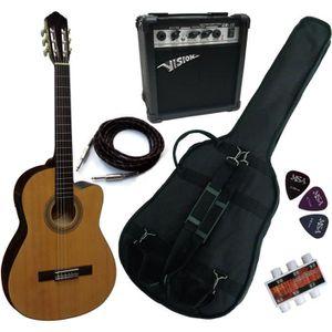 PACK INSTRUMENTS CORDES PACK Guitare Électro-Classique Nature Ampli 15W 5