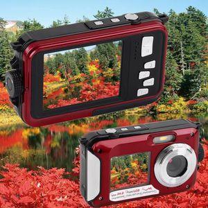 PACK APPAREIL COMPACT Appareil photo numérique 24MP étanche Caméra Doubl