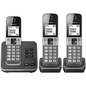 Téléphone fixe Panasonic KX-TGD323FRG, Téléphone DECT, Combiné sa