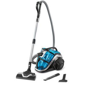 ASPIRATEUR TRAINEAU Rowenta - aspirateur sans sac 68db 750w bleu-noir