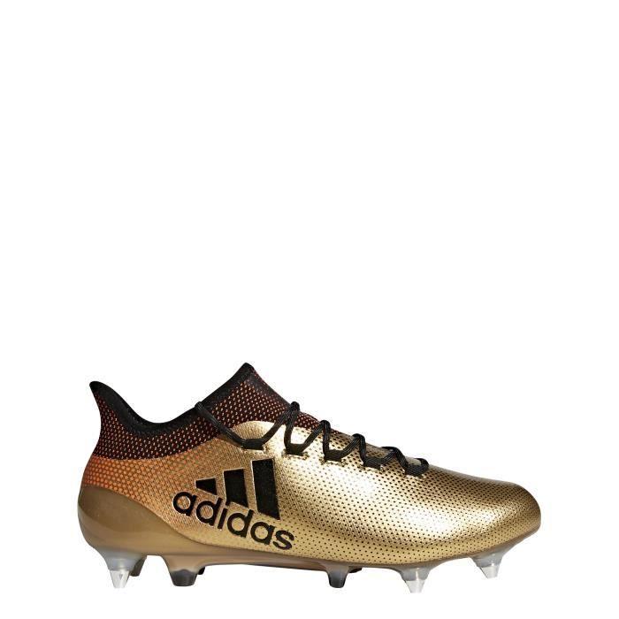 Chaussures de football adidas X 18.1 SG - gris/noir/rouge solaire - 42