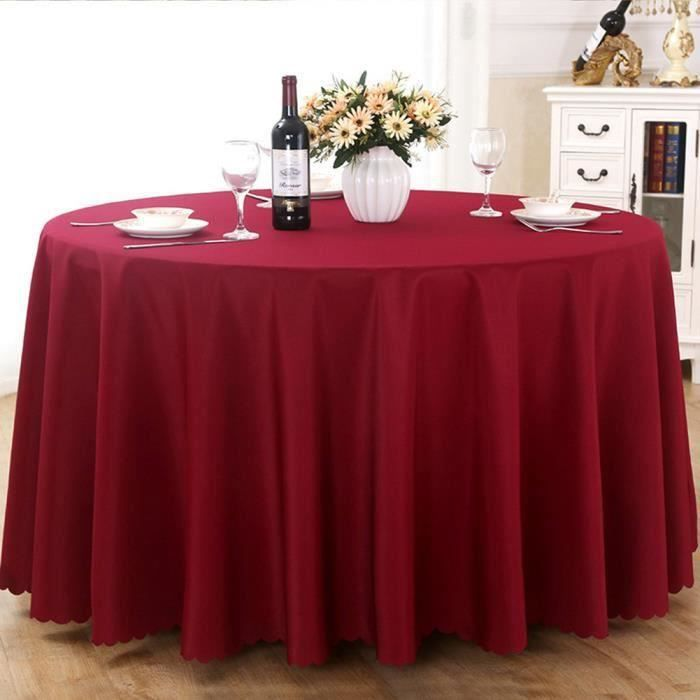 Nappe de table, Nappe ronde, Nappe ronde 240 cm, Nappe ronde antitache, Nappe exterieur table ronde - Rouge