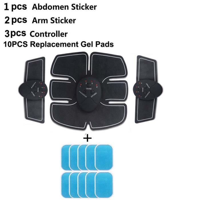 CEINTURE D'ELECTROSTIMULATION,Corps minceur Shaper Machine électrique impulsion traitement masseur Fitness accessoires - Type Bleu