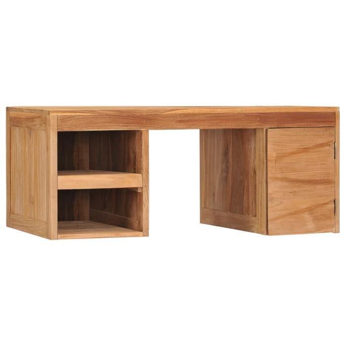 Rui DA® Table basse 90x50x40 cm Bois de teck massif