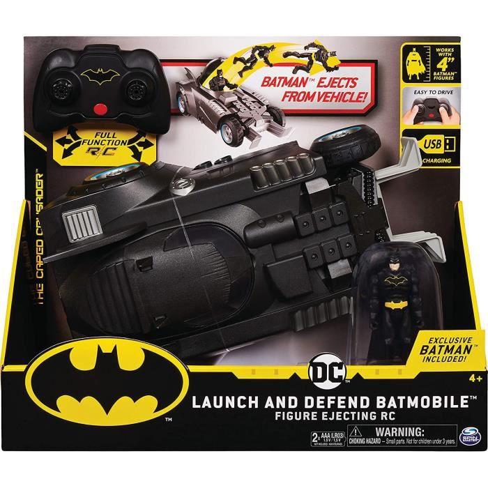 VEHICULE MINIATURE ASSEMBLE ENGIN TERRESTRE MINIATURE ASSEMBLE BATMAN - BATMOBILE RC DELUXE - DC Comics - Voiture Radiocommand236