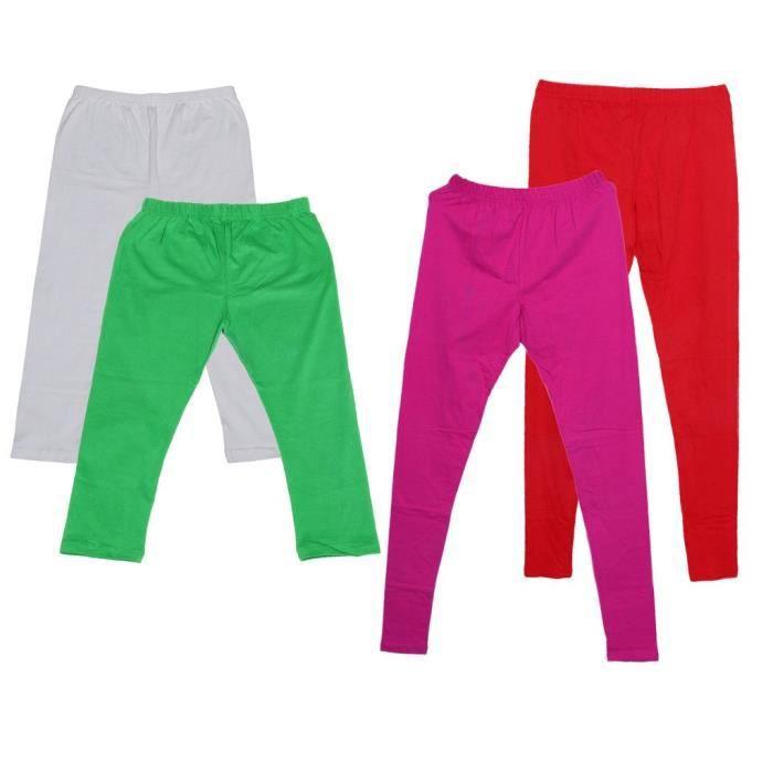 Women's Cotton2 Legging And 2 3-4 Legging-capri-pant (pack Of -4)_green::white::red::purple_free Si KMOJM Taille-M