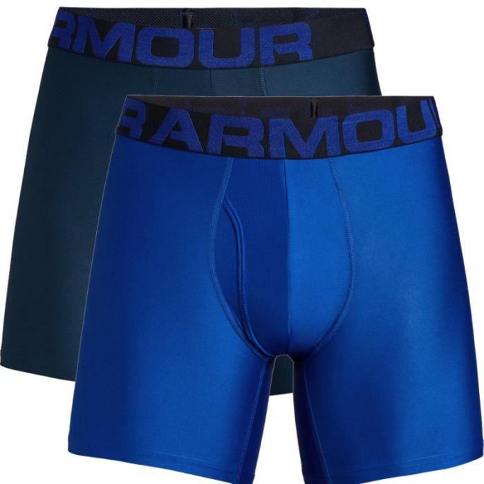 Caleçon Under Armour tech Boxerjock 6 pas de deux Bleu pour homme